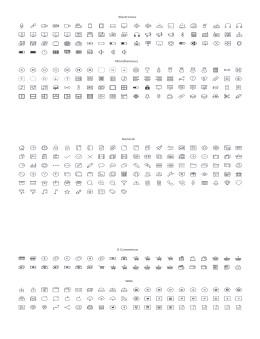 PPT线性可编辑图标