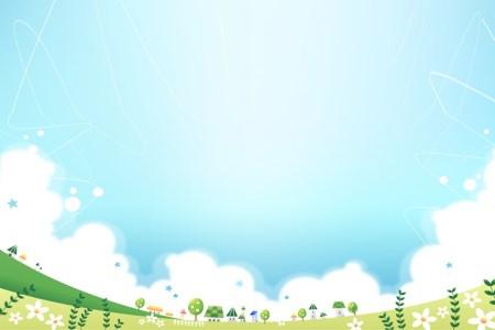 简洁卡通PPT背景图片