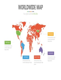 PPT矢量世界地图素材